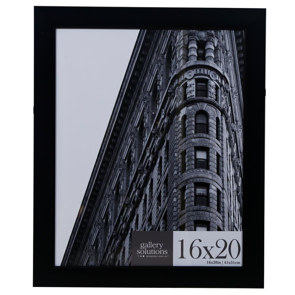 Pinnacle 13 in x 19 in poster picture frame 10fw1571e the home black flat ridged poster picture frame jeuxipadfo Image collections