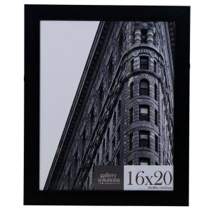 Pinnacle 16 inch x 20 inch Black Flat Ridged Poster Picture Frame by Pinnacle