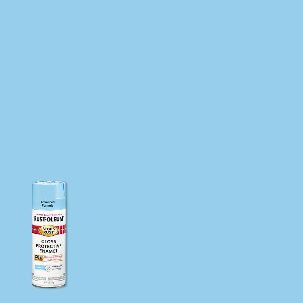 Rust-Oleum Stops Rust 12 oz. Advanced Protective Enamel Gloss Harbor Blue Spray Paint (6 Pack)