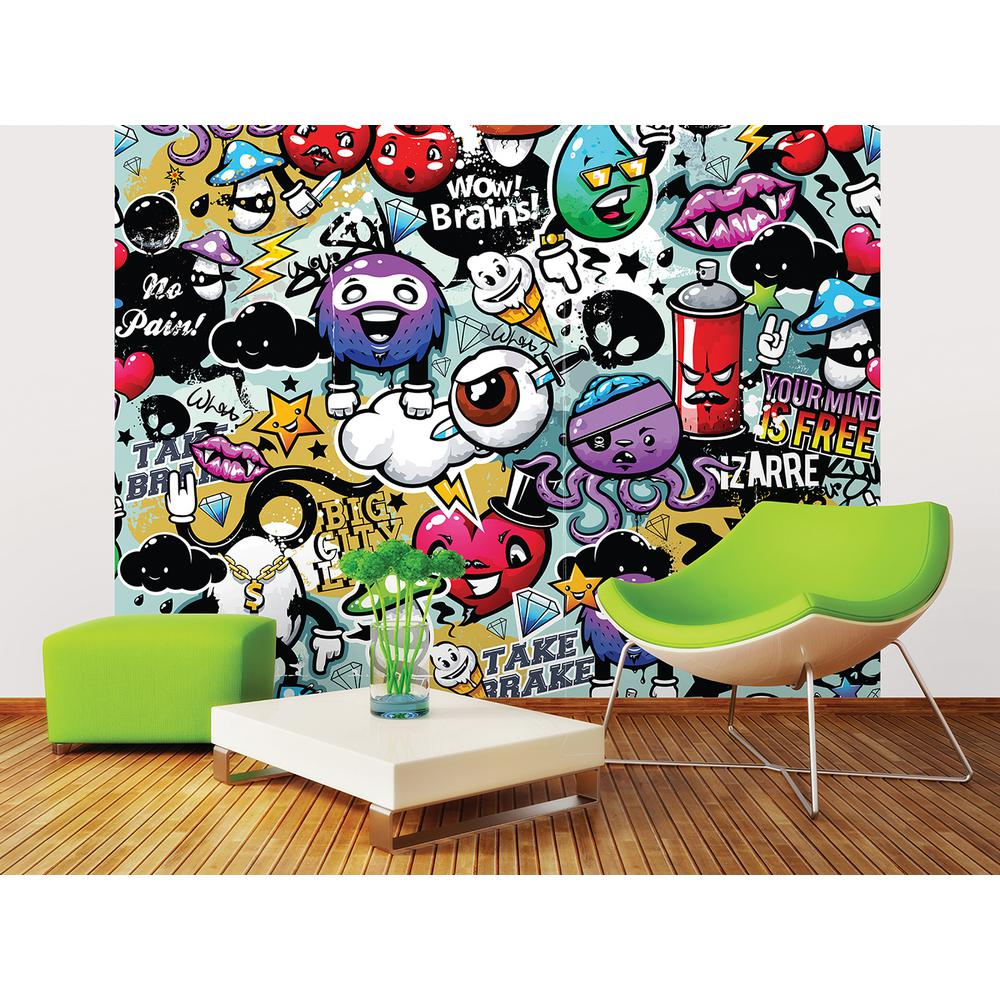 Wall murals wall decor the home depot graffiti monster wall mural amipublicfo Gallery