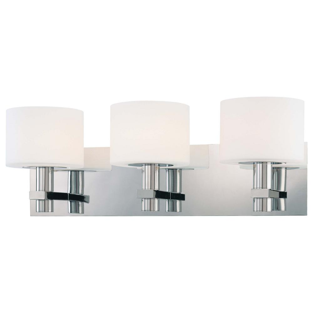 Stem 3-Light Chrome Bath Light