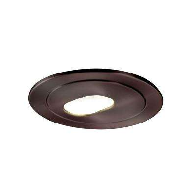 Low-Voltage 4 in. Tuscan Bronze Recessed Ceiling Light Trim with Adjustable Slot Aperture