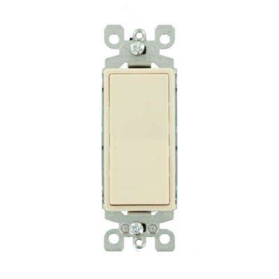 15-Amp 120/277-Volt Decora 1-Pole Residential Grade Ac Quiet Illuminated Rocker Switch, Light Almond