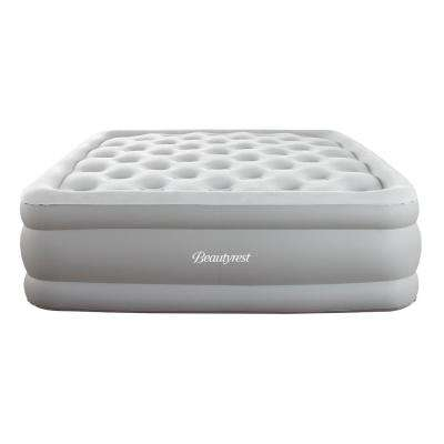 Sky Rise 18 in Queen Adjustable Comfort Coil Top Raised Air Bed Mattress with Edge Support and Express Pump