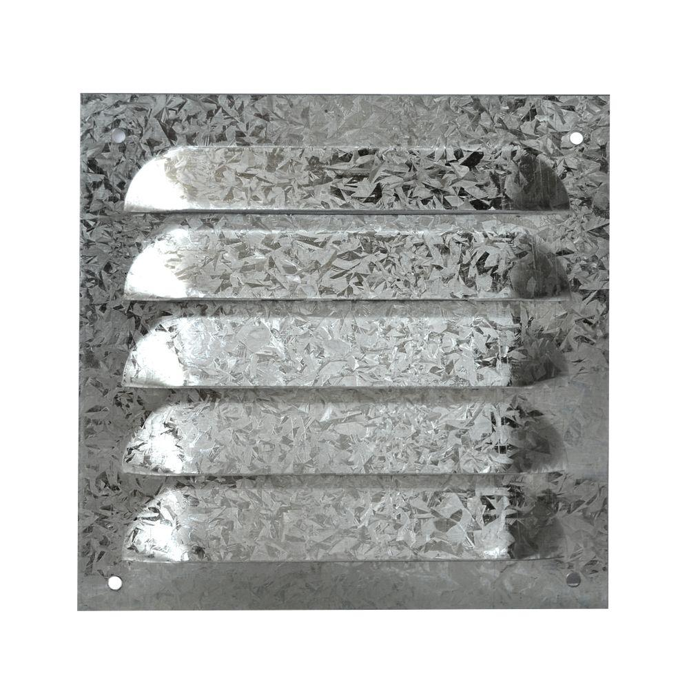 Master Flow 6 in. x 6 in. Galvanized 26 Gauge Louver with Screen