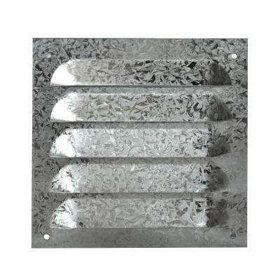 6 in. x 6 in. Galvanized 26 Gauge Louver with Screen