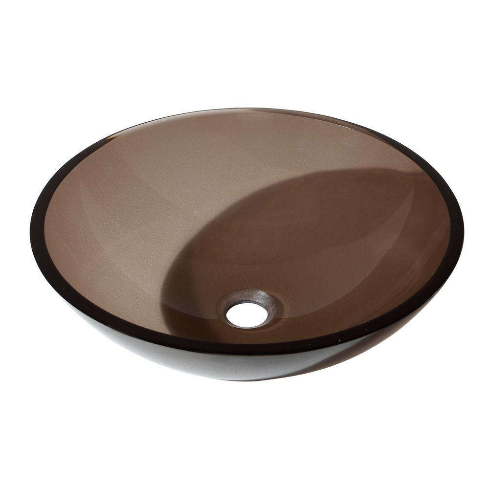 Home Decorators Collection Fuji 2 Single Vanity Sink in Brown Old ...