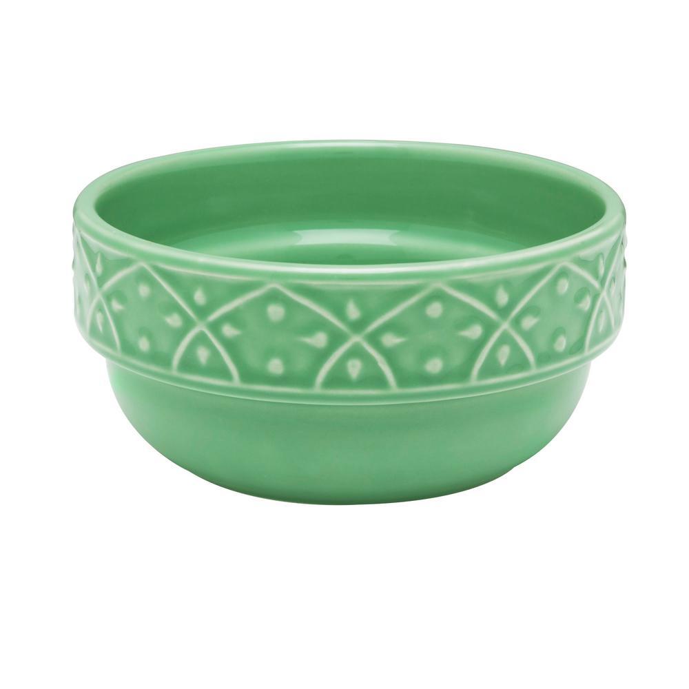 Mendi 16.91 oz. Green Earthenware Soup Bowls (Set of 6)