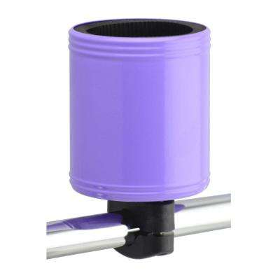 Kroozercups Drink Holder 2.0 Fits Bars from 5/8 in. to 1-3/8 in. with New Super-Tight Grip in Purple