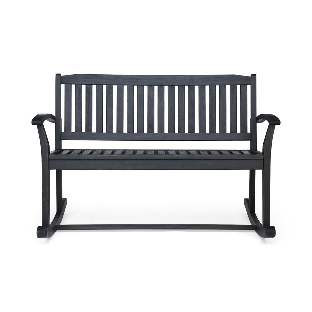 Regatta Dark Grey Wood Outdoor Rocking Chair