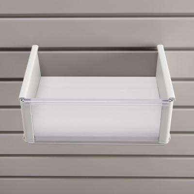 Plastic 8 in. x 10 in. Slat Wall Basket in White