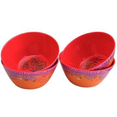 Psycho-Tropical Multicolored Bowl (Set of 4)