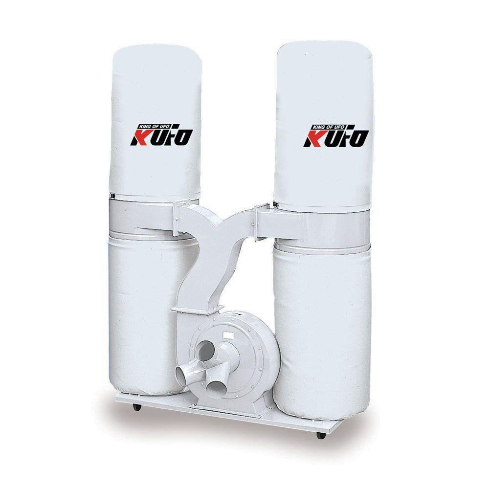 Kufo Seco 5HP 3, 900 CFM 3-Phase 220-Volt / 440-Volt Vertical Bag Dust Collector (Prewired 220-Volt)