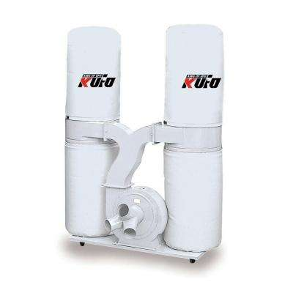 5HP 3,900 CFM 3-Phase 220-Volt / 440-Volt Vertical Bag Dust Collector (Prewired 220-Volt)