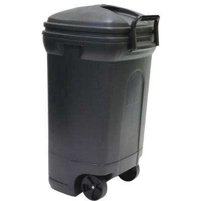 34 Gal Plastic Wheeled Outdoor Trash Can