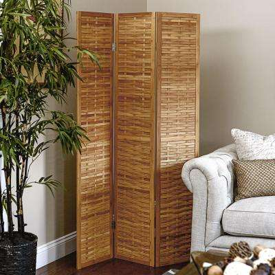 Bamboo 3 Panel Screen with Basket weave