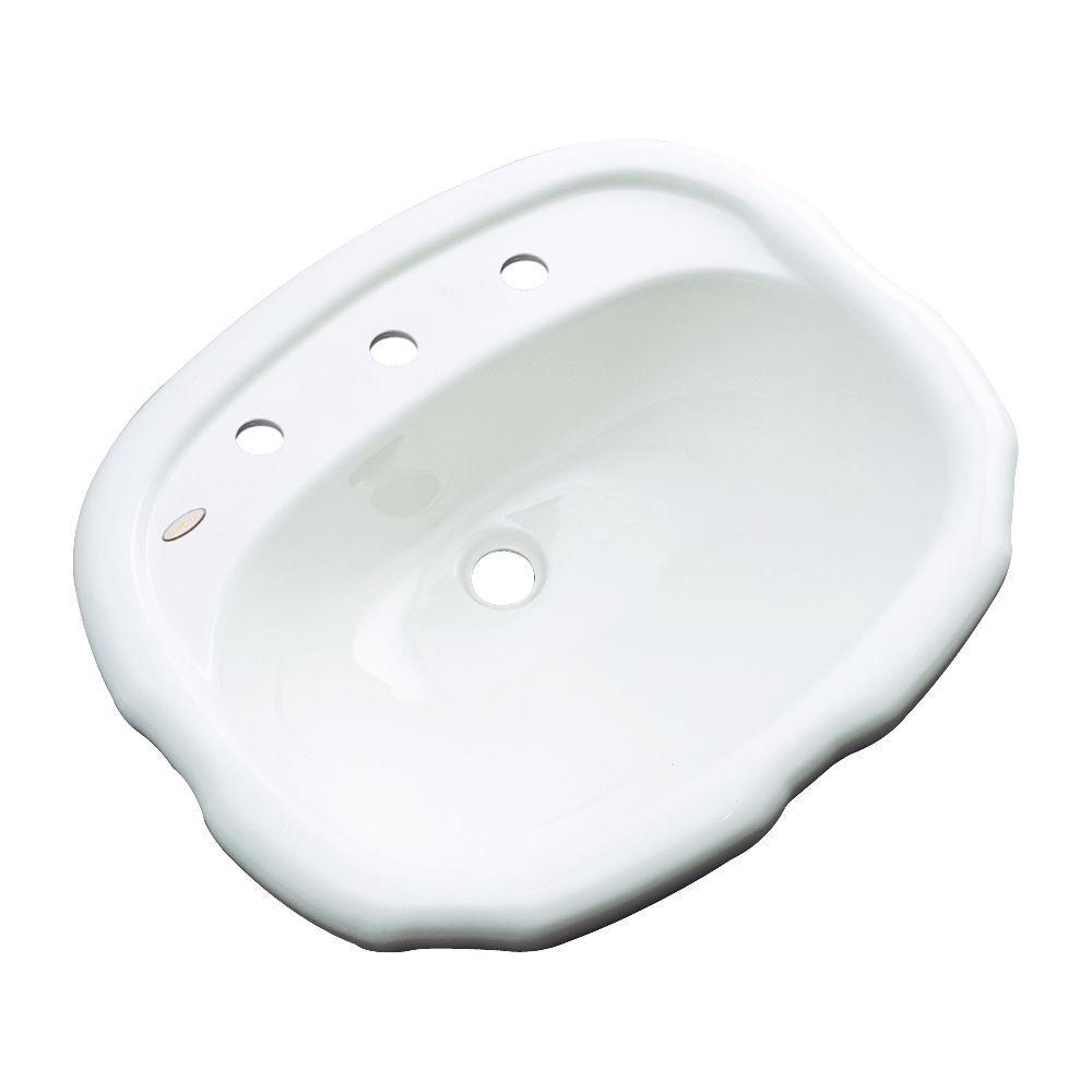 Aymesbury Drop-In Bathroom Sink in White