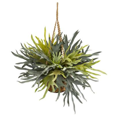 Staghorn Hanging Basket Artificial Plant