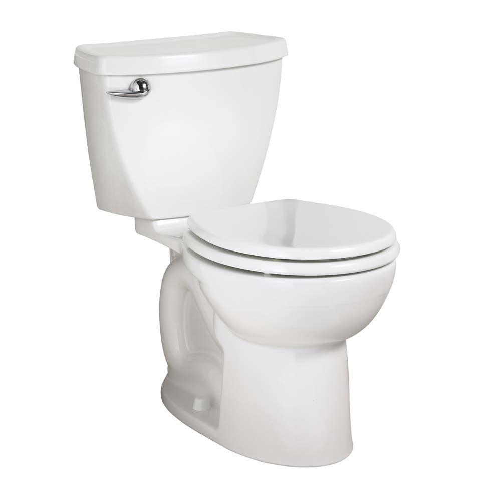 American Standard Cadet 3 Powerwash Tall Height 2-piece 1.28 GPF Single Flush Round Toilet in White, Seat Not Included