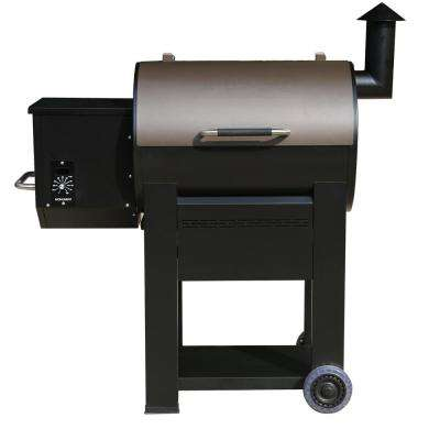 Pellet Grill in Black with Manual Control