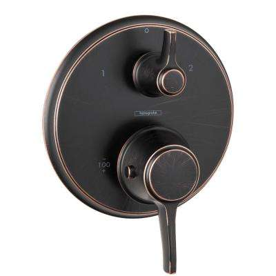 Metris C 2-Handle Thermostatic Valve Trim Kit with Volume Control in Rubbed Bronze (Valve Not Included)