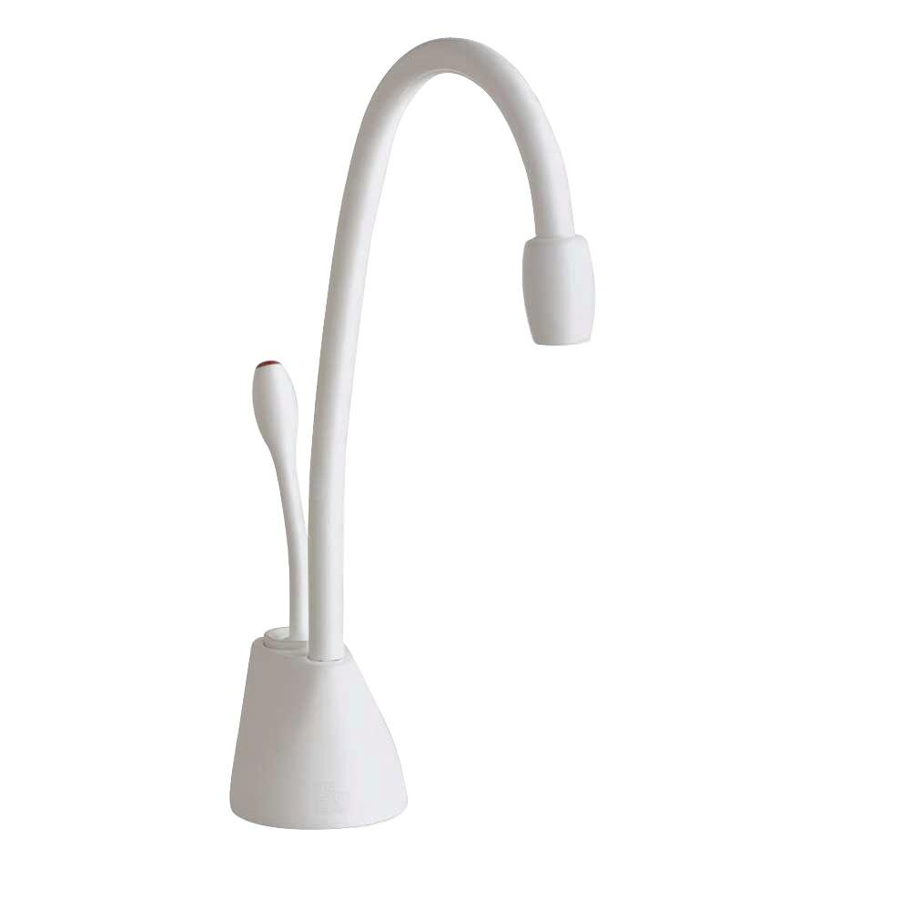 Insinkerator Indulge Contemporary Single Handle Instant Hot Water Dispenser Faucet In White