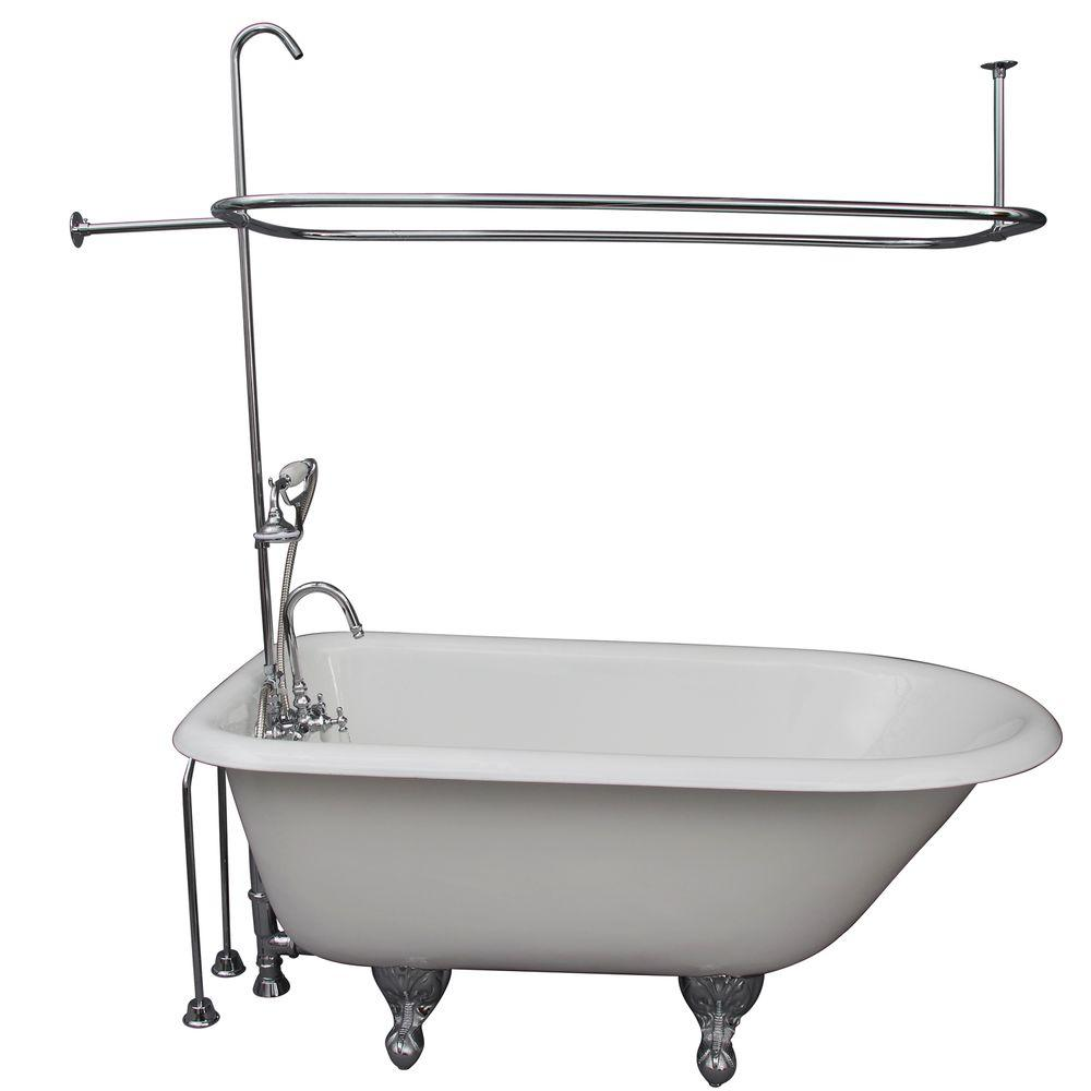 4.5 ft. Cast Iron Ball and Claw Feet Roll Top Tub