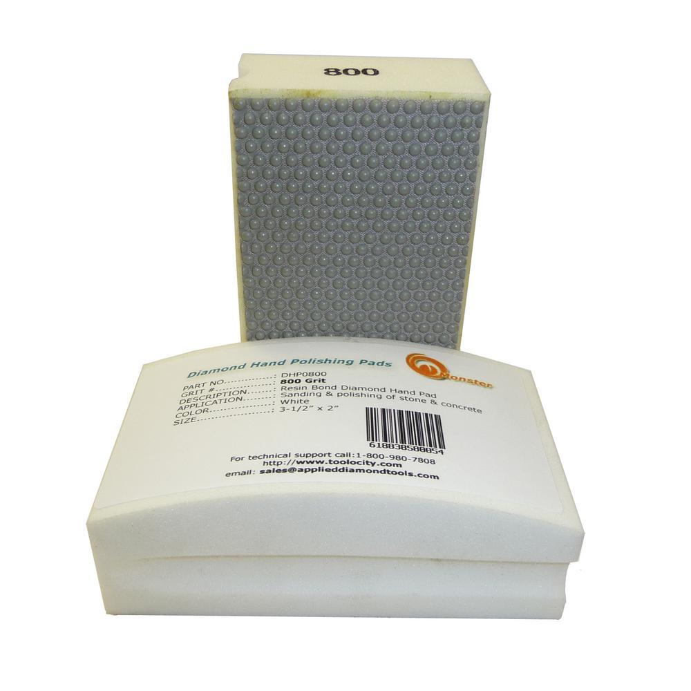 800-Grit Diamond Hand Polishing Pads Block Type