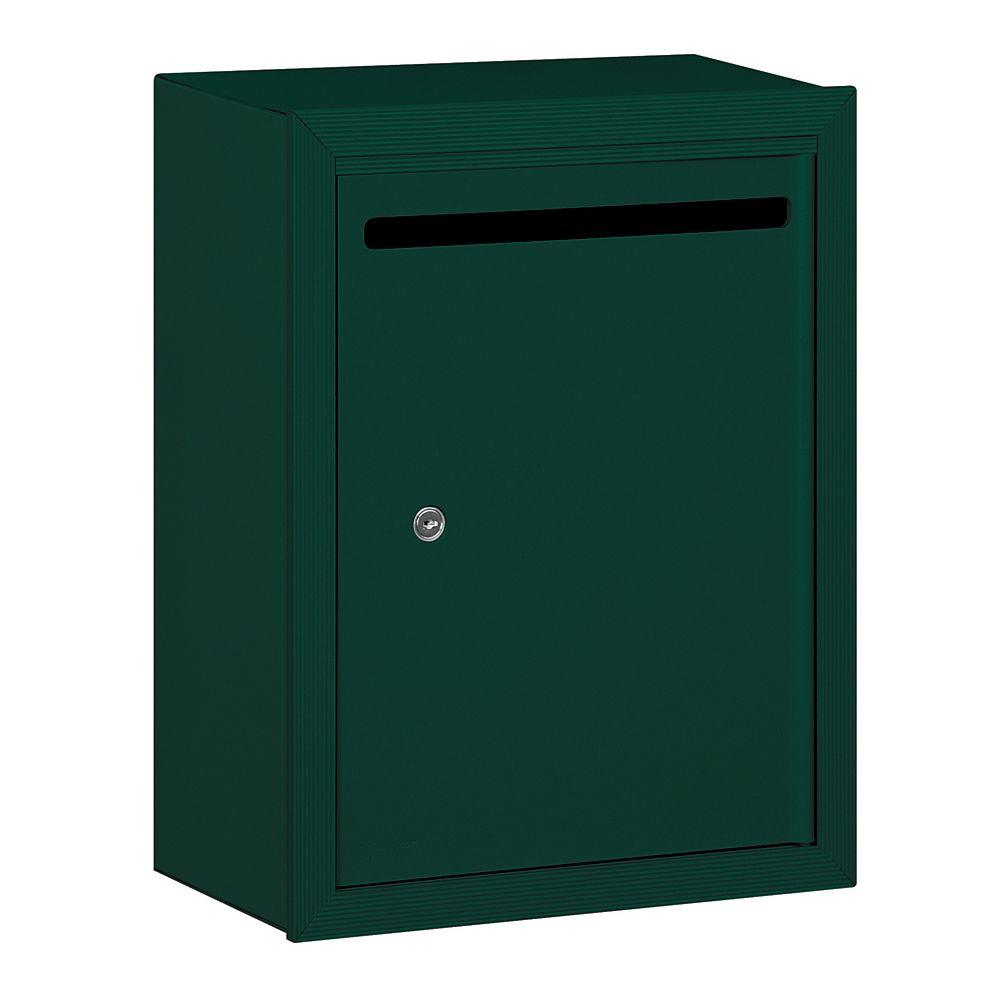 Salsbury Industries 2240 Series Standard Surface-Mounted Green Private Letter Box with Commercial Lock