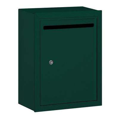2240 Series Standard Surface-Mounted Green Private Letter Box with Commercial Lock