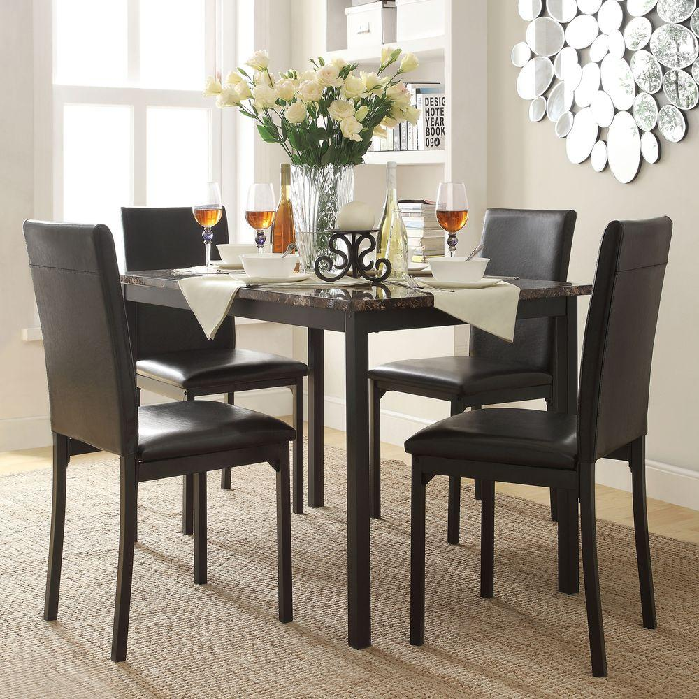 HomeSullivan Bedford 5 Piece Black Dining Set