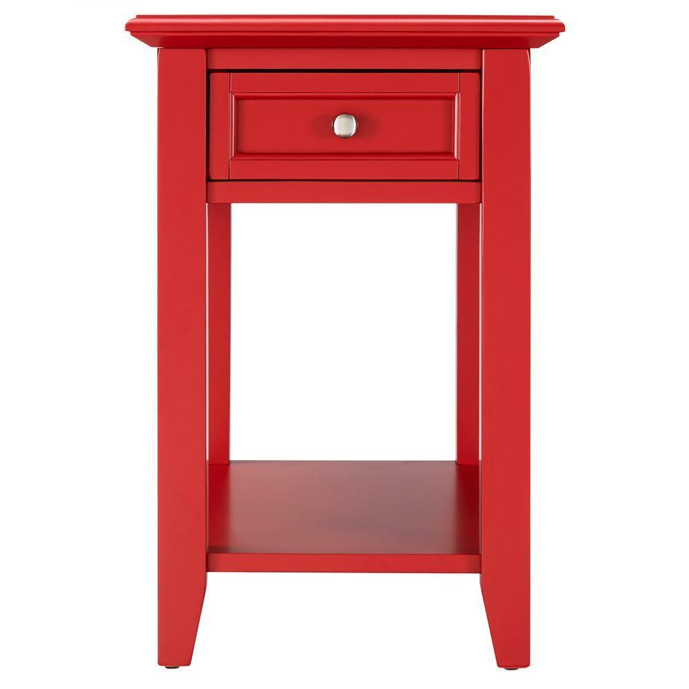 Phenomenal Homesullivan Harrison Red Side Table 40E720A R The Home Depot Short Links Chair Design For Home Short Linksinfo