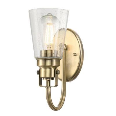 Ashton 1-Light Antique Brass Wall Mount Sconce