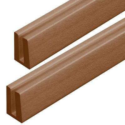 4 ft. Sierra Cedar Vinyl Lattice Cap Moulding