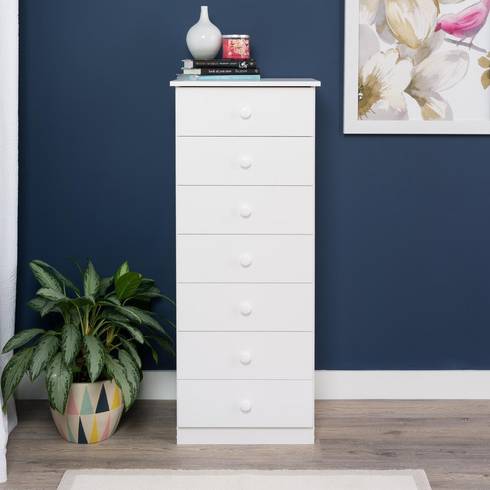 Edenvale 7-Drawer White Chest