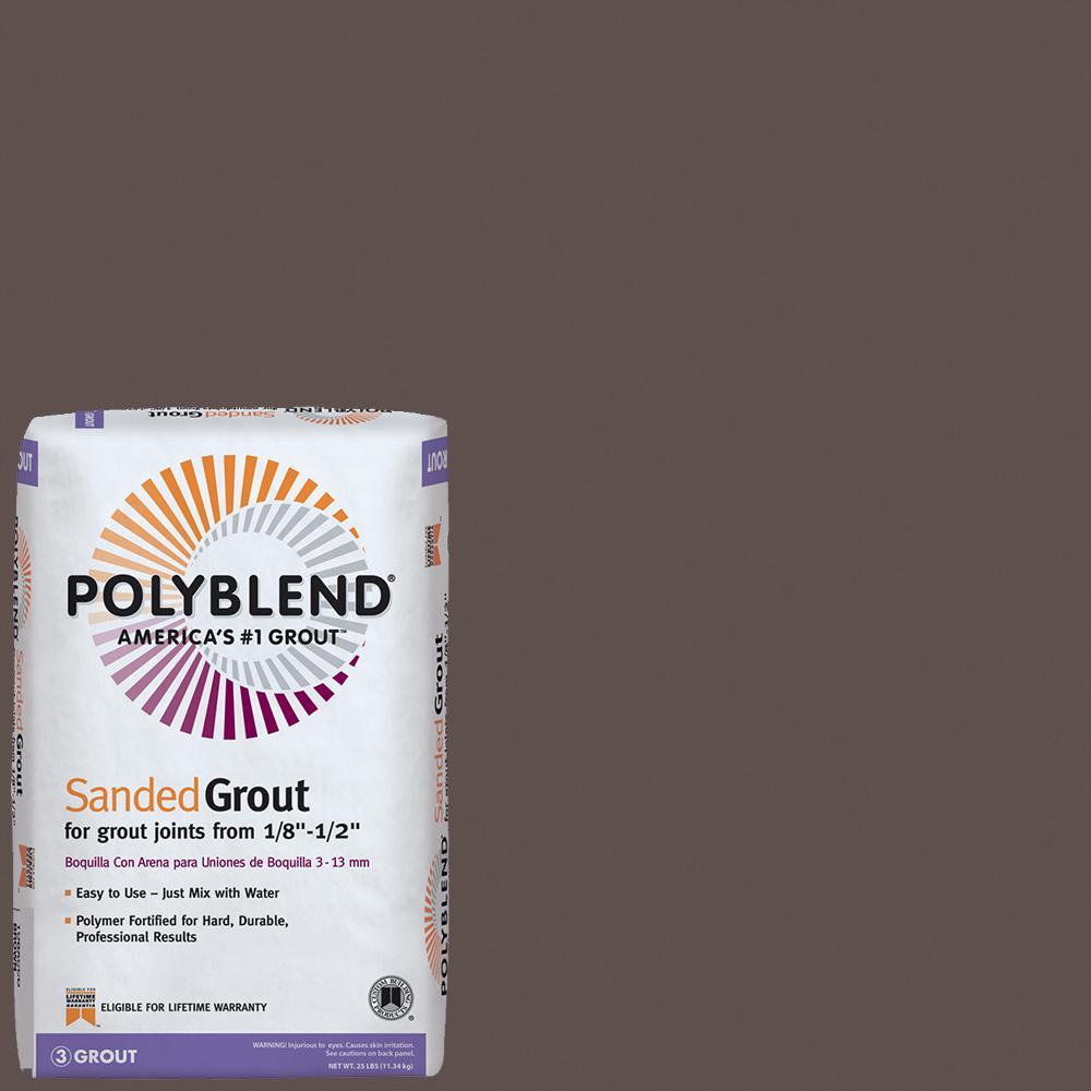 Polyblend #647 Brown Velvet 25 lb. Sanded Grout