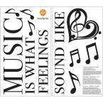 WallPOPs Black Feeling Music Decal Wall Quote