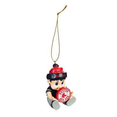 Boston Red Sox 2 in. MLB New Lil Fan Christmas Ornament