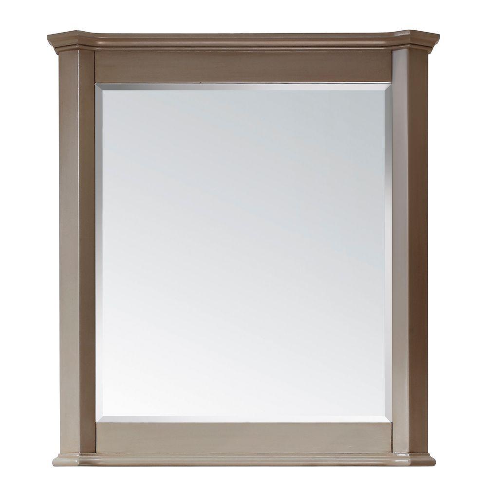 Pegasus Ella 30 in. x 33 in. Mirror in Distressed Gray