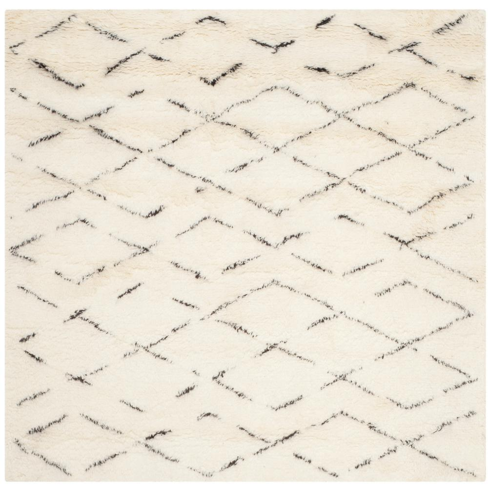 Casablanca Ivory/Brown 8 ft. x 8 ft. Square Area Rug