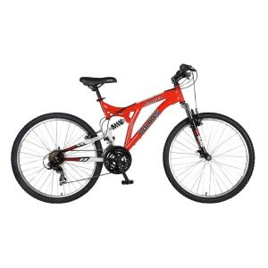 Polaris Ranger Full Suspension Mountain Bike, 26 inch Wheels, 18 inch Frame, Men's Bike in Red by Polaris
