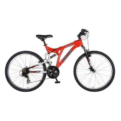 Ranger Full Suspension Mountain Bike, 26 in. Wheels, 18 in. Frame, Men's Bike in Red
