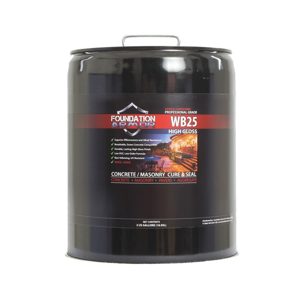 Foundation Armor 5 gal. Water Based High Gloss Acrylic Concrete Cure and Seal