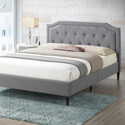 Harrington Gray Tufted Queen Size Bed
