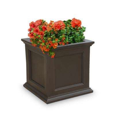 Fairfield 20 in. x 20 in. Espresso Polyethylene Patio Planter