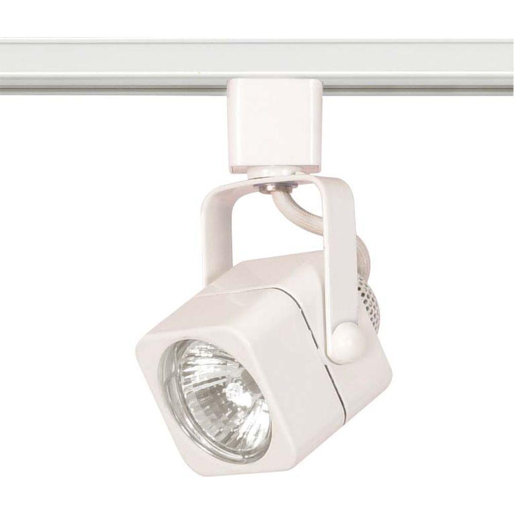 Lite Line 1 Light Mr16 120 Volt Square White Track Lighting