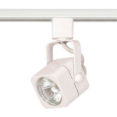1-Light MR16 120-Volt Square White Track Lighting Head