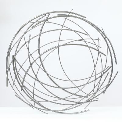 Metal Abstract Sticks Round Wall Decor