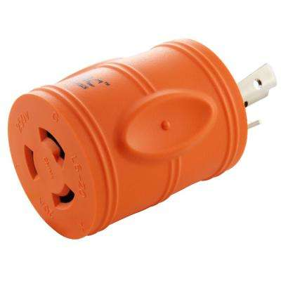 Plug Adapter L6-30P 30 Amp 250-Volt Male Plug to L6-20R 20 Amp Locking Female Connector