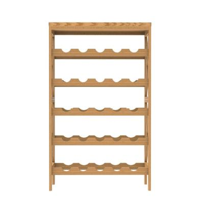 25-Bottle Classic Rustic Wood Wine Rack